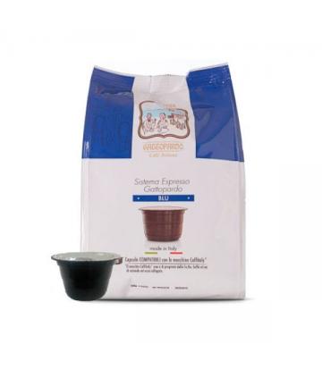 16 capsule caffè Toda Gattitaly blu compatibili caffitaly