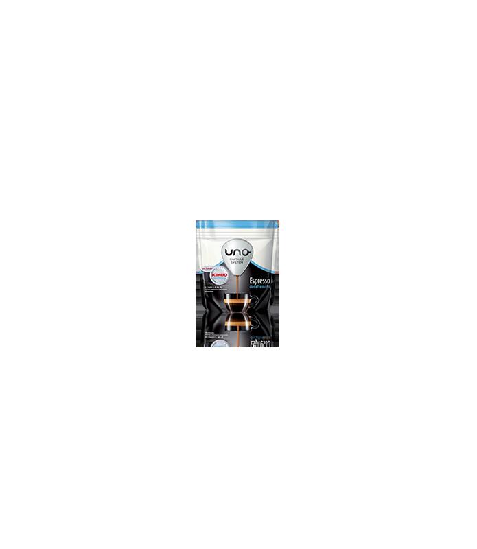 16 capsule Kimbo caffe Espresso Decaffeinato per macchina UNO Capsule System Kimbo e Illy