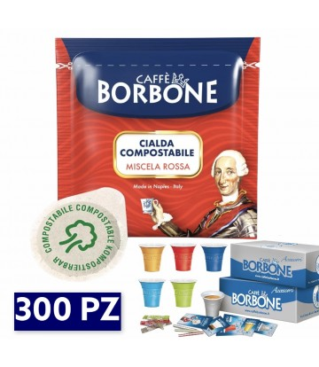 300 Cialde Borbone rossa + KIT