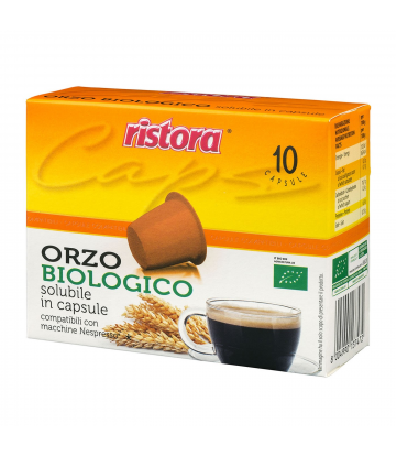 10 capsule Ristora Orzo biologico Nespresso
