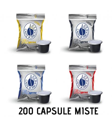 200 CAPSULE BORBONE RESPRESSO MISTE compatibili Nespresso
